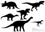 恐竜のシルエット素材