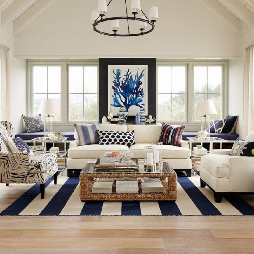 Interior Decorating Ideas Living Room: Nautical Themed Interiors