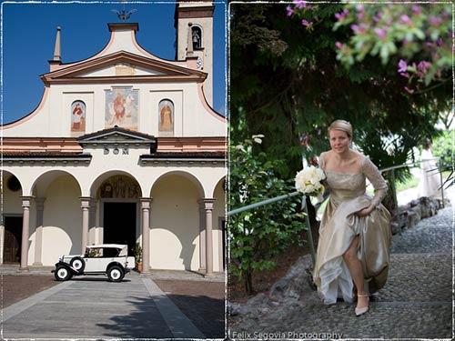 chiesa matrimonio Lesa, lago Maggiore