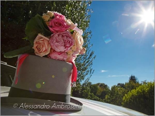 bouquet con peonie rosa fiorista lago d'Orta