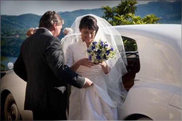 noleggio Roll Royce matrimonio lago d'Orta