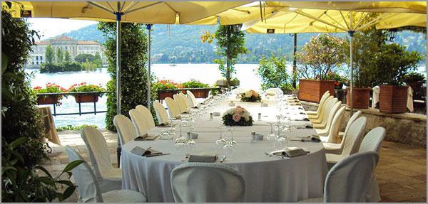 ristorante matrimonio Isola Pescatori Stresa