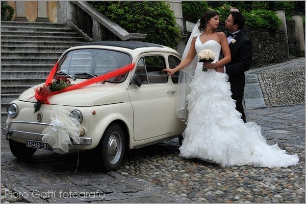 noleggio Fiat 500 matrimonio Orta