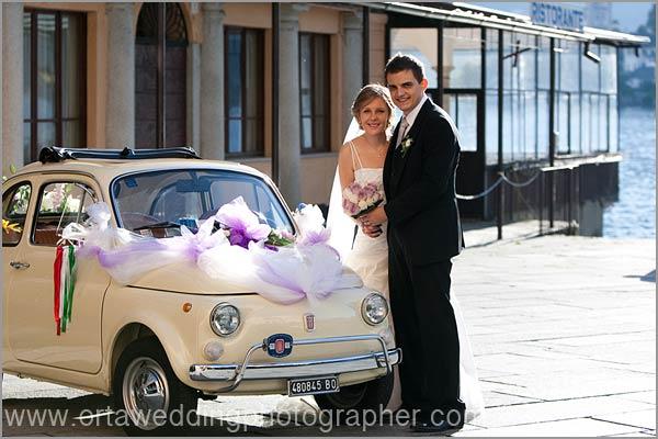 noleggio Fiat 500 matrimonio Lago d'Orta
