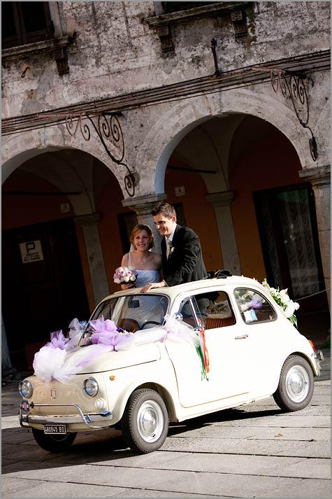 affitto Fiat 500 matrimonio Verbania