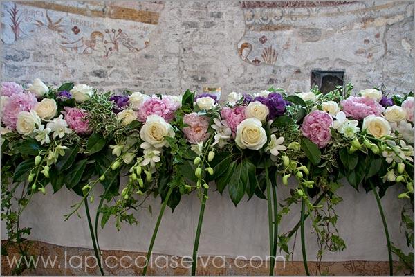 addobbo floreale matrimonio chiesa San Remigio fiorista Verbania