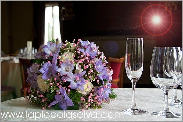 centrotavola matrimonio Hotel Majestic fiorista Verbania