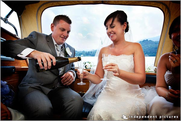 matrimonio in motoscafo Lago d'Orta