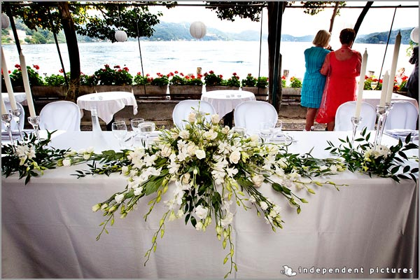 centrotavola matrimonio con orchidee