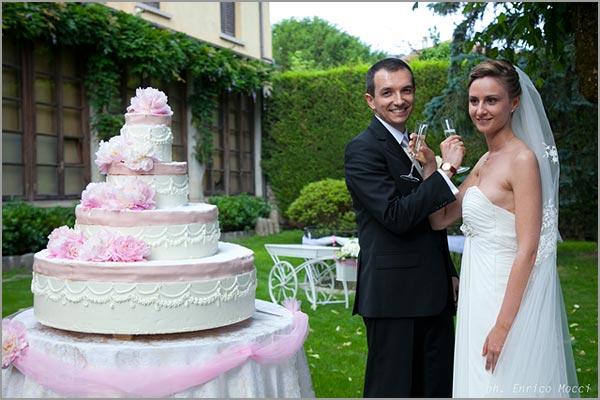 torta nuziale matrimonio Villa Pestalozza