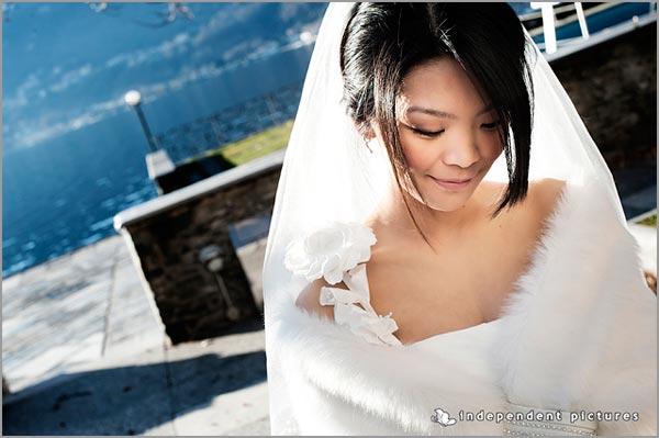 abito da sposa invernale con pelliccia a Verbania