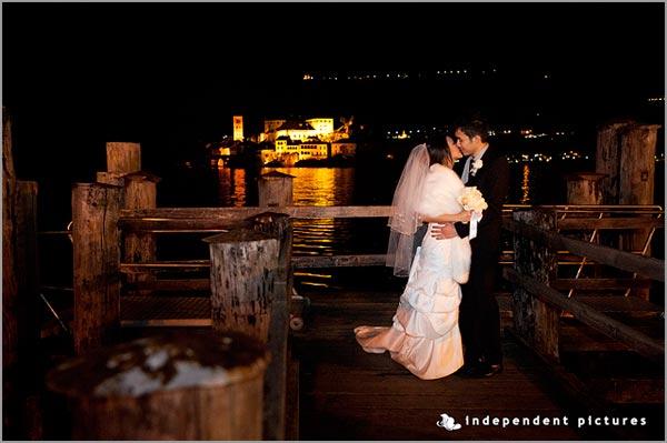 nozze d'inverno sul lago d'Orta