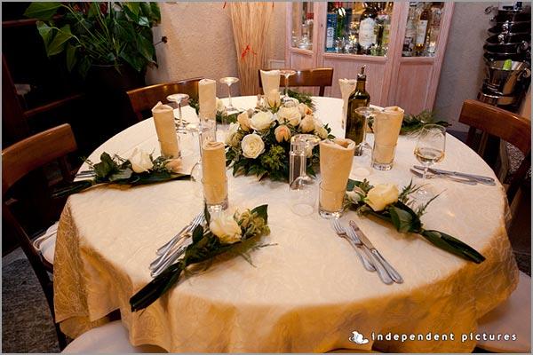 centrotavola matrimonio ristorante Ca dal Rat Orta