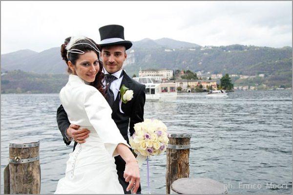 matrimonio in frac a Orta