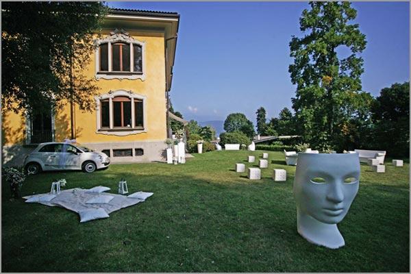 allestimenti e arredi matrimonio a Villa Frua di Stresa