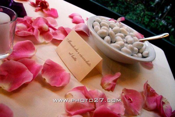 tavolo dei confetti,matrimonio al ristorante San Giulio
