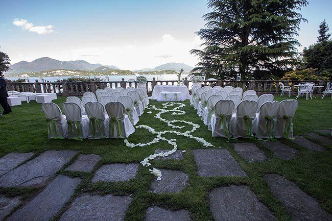 Villa Claudia Dal Pozzo © Cerimonia in terrazza vista lago