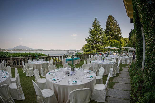 Villa Claudia Dal Pozzo © Ricevimento in terrazza vista lago