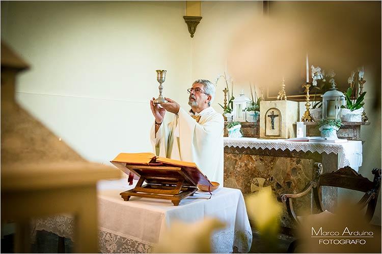 Cerimonia nella cappella privata di Villa Giannone