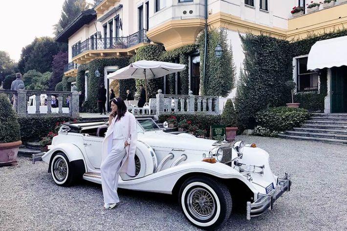 Noleggio auto d'epoca matrimonio Villa Claudia Dal Pozzo lago Maggiore