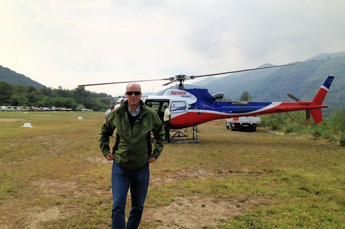 Noleggio elicottero matrimonio lago Maggiore