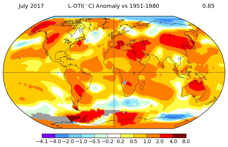 Pas d'El Nino, mais juillet 2017 a été le plus chaud jamais enregistré, alors pourquoi?