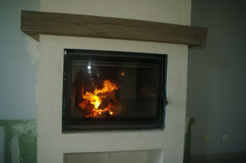 The new fireplace