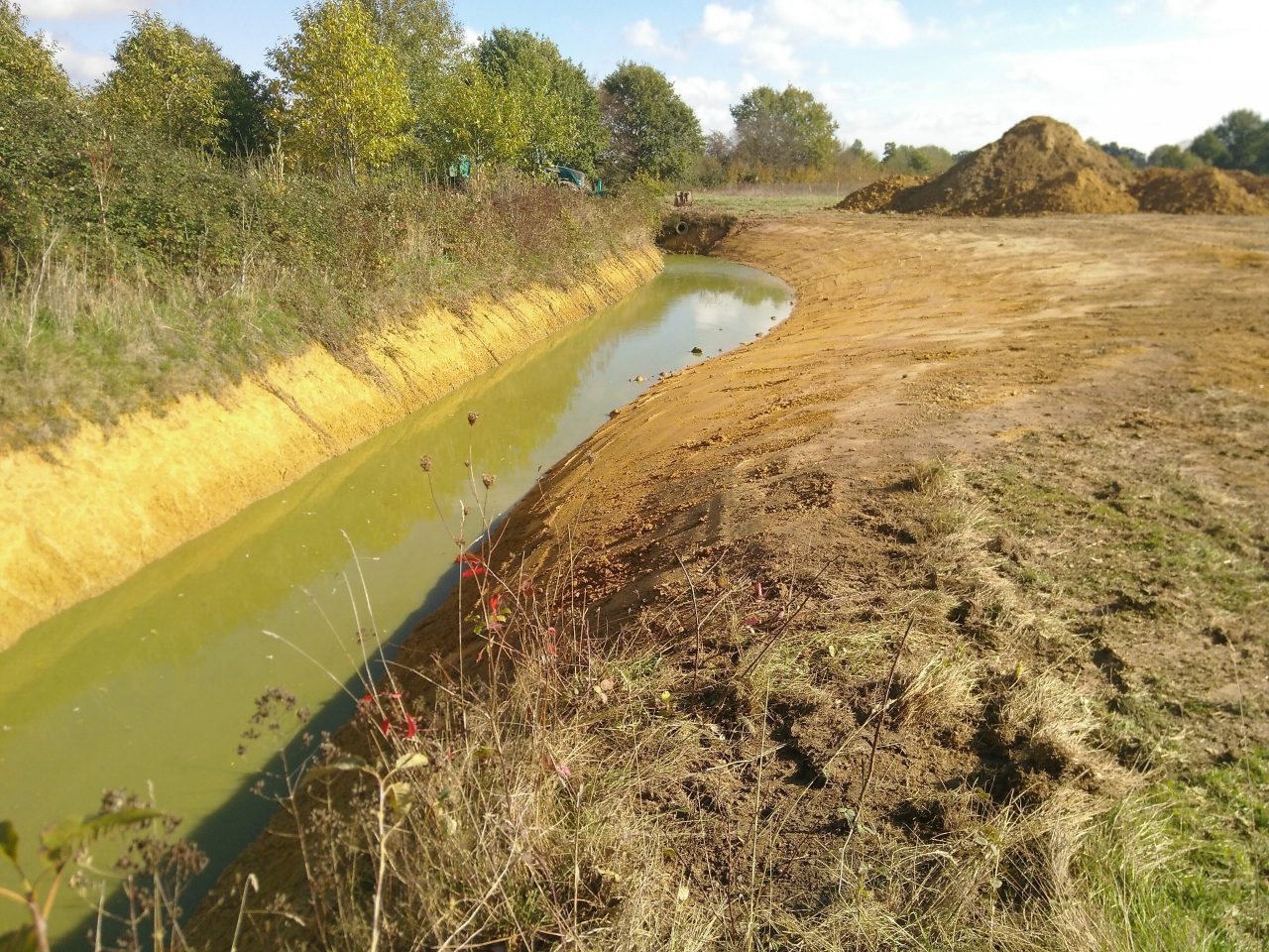 Enlarging the canal