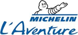 signature logo l'Aventure Michelin partenaire du gîte de maison de vacances la grange des puys à Beaune le chaud en Auvergne