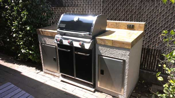 Free Standing Grill Island Gallery