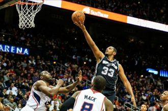 Au lay-up avec les Spurs