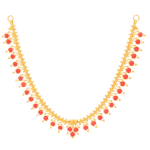Gold Necklace with Coral