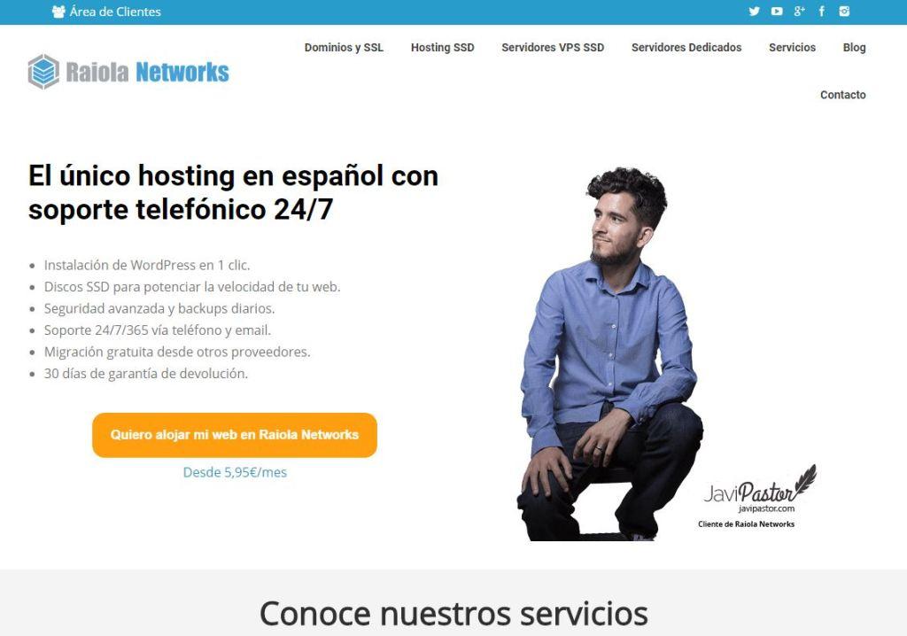 Pag inicio Raiola Networks