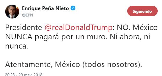 peña tweet español