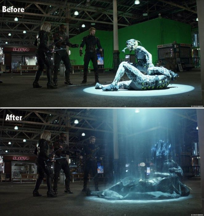 escena digitalizada avengers
