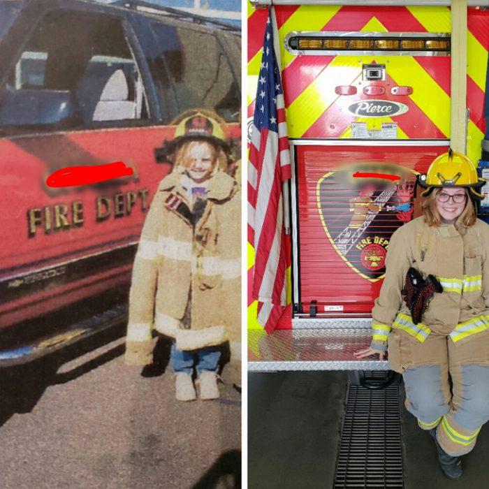 antes y después bombera