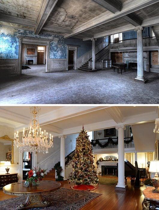 antes y después mansión