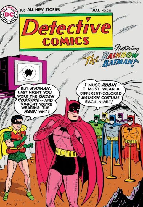 batman trajes de colores