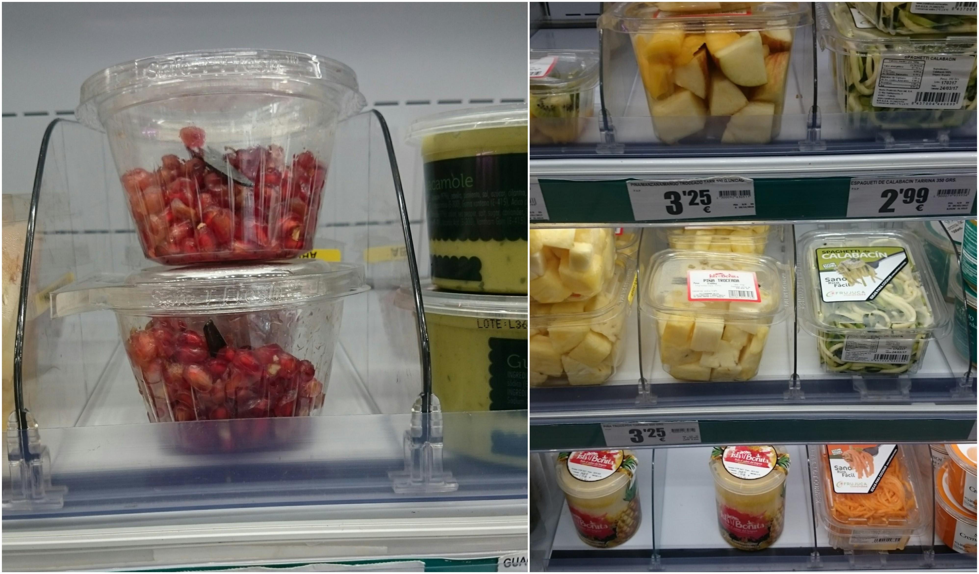 fruta en plástico