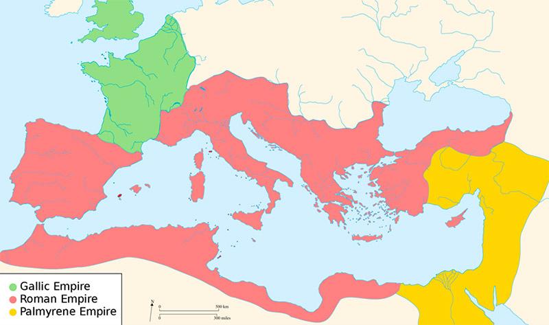 Imperio romano dividido durante el siglo III