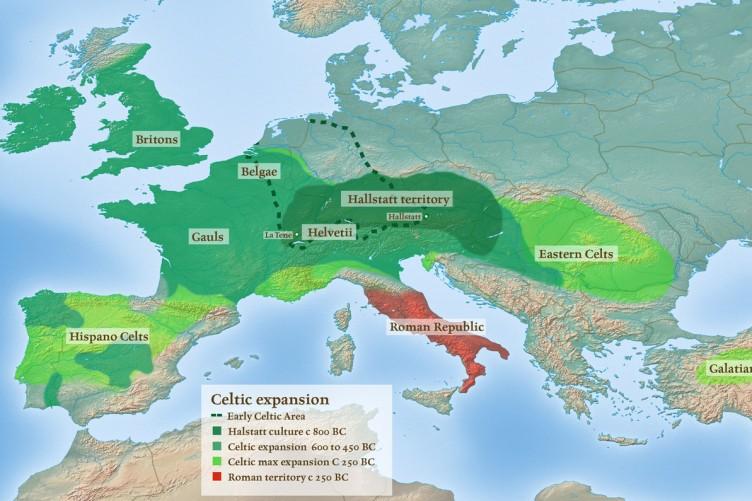 Expansión de los celtas en Europa