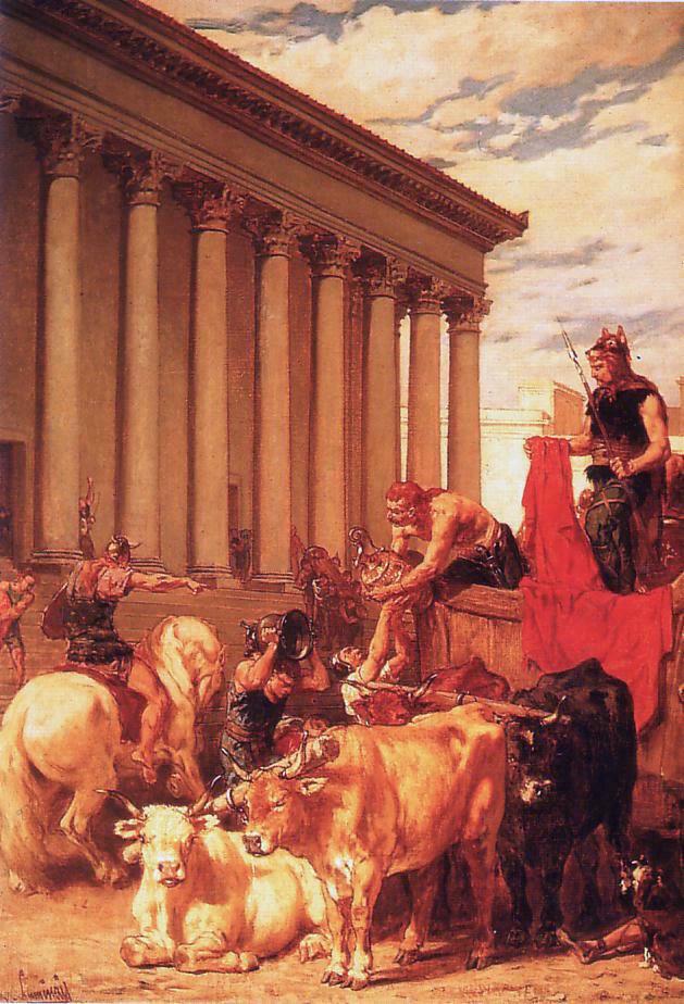 El saqueo de Roma (siglo XIX), por Évariste Vital Luminais