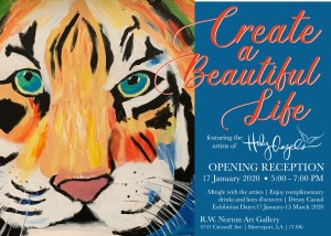 Opening Reception - Create a Beautiful Life art exhibition @ R.W Norton Art Gallery