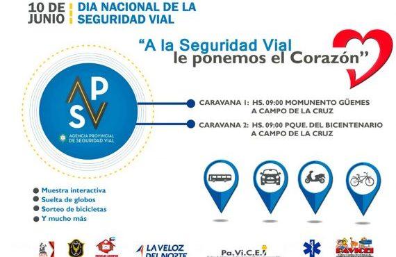 Intensa movida para conmemorar el Día Nacional de la Seguridad Vial