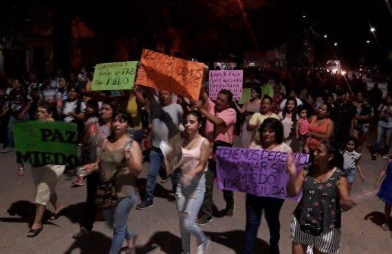 Vecinos de Embarcación se movilizaron en apoyo al trabajo policial efectuado en la zona