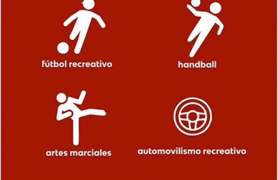 Nuevos deportes habilitados en la provincia: artes marciales, entrenamiento de fútbol recreativo, automovilismo recreativo y handball
