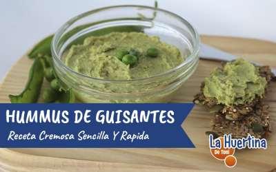 Hummus de Guisantes, sano, fácil y buenísimo
