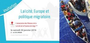 20160130 Invitation laicite, europe et politique migratoire