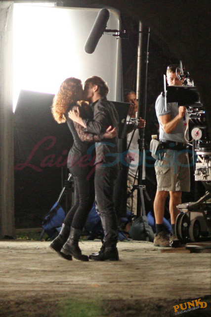 Bryce Dallas Howard y Xavier Samuel filmando Eclipse (Agosto 20. 2009)