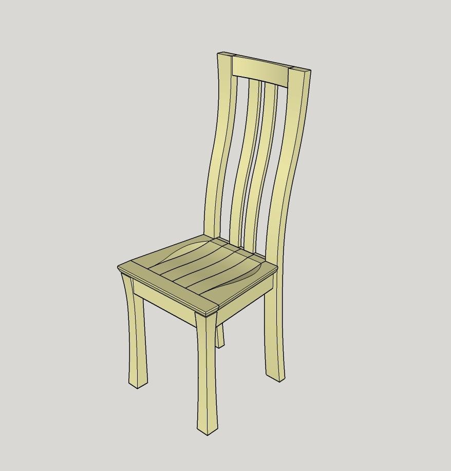 plan chaise aux pieds courbes par